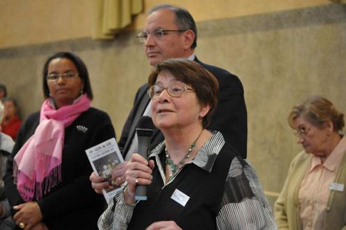 Elisabeth Grillot présidente du GAB - Bernard PERRUT. Député-maire de Villefranche