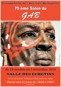 Affiche Salon GAB Groupement Artistes Beaujolais 2019