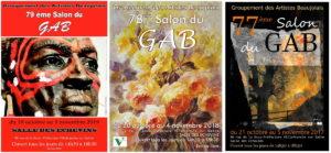 Salon du Groupement des Artistes Beaujolais - Le GAB - 3 affiches