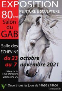 Affiche salon 2021 - Le GAB - Groupement des Artistes Beaujolais